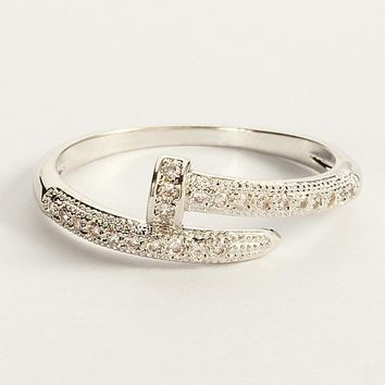 Shiny New Arrival Gift Jewelry Stylish Diamonds Korean Simple Design Ring [11337092551]