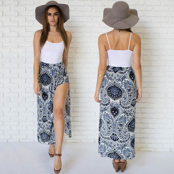 Terrace Paisley Maxi Skirt