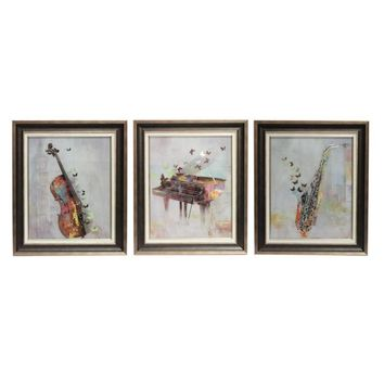 Musical Classic Wall Decor-Set of 3 By Benzara