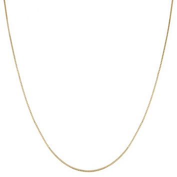 14k Yellow Gold 0.55mm Venetian Box Chain (14, 16, 18, 20, 22, 24, 30 or 36 inch)