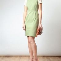 ACNE | 'Lucille' Denim and Chiffon Dress | Browns fashion & designer clothes & clothing