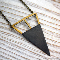 Cage & Dagger Black and Gold Edition  Geometric by VRDjewelry