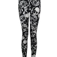 Womens Plus Size Funky Printed Stretchy Viscose Full Leggings