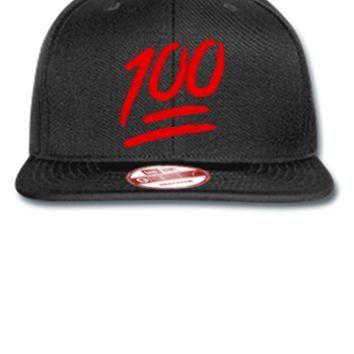 100 emoji Bucket Hat - New Era Flat Bill Snapback Cap