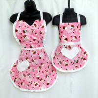 Cupcake Mommy and Me Apron by BebeSucreOnline on Etsy