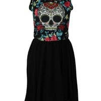 New Breed Girl Day of the Dead Cocktail Dress - Buy Online at Grindstore.com