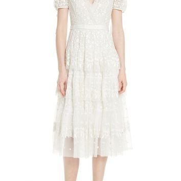 Needle & Thread Layered Lace Dress | Nordstrom