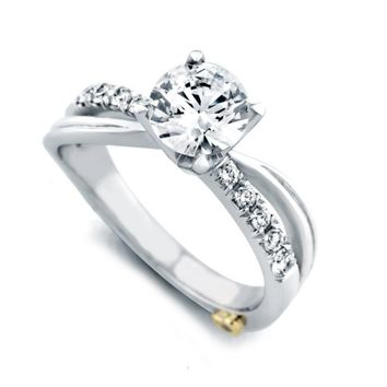 Mark Schneider Surge 1.20cttw split shank diamond engagement ring