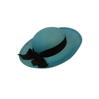 Chanel Genuine Straw Hat in Brilliant Turquoise