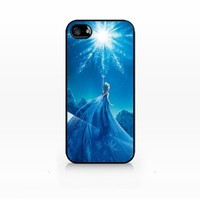 Elsa, Snow Queen, Disney Frozen-iPhone 4 case, iPhone 4s case, Hard Plasic, Black case SCC-IP4-003 BLACK