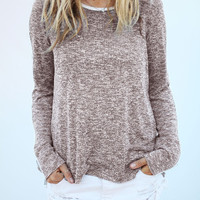 Long Sleeve Loose Pullover Shirt