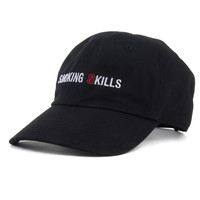 SMOKING SKILLS STRAPBACK HAT BLACK