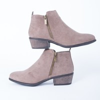 Casual Suede Booties