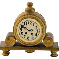 Vintage Dollhouse Miniature Mantle Clock Solid Brass Made in Holland Dutch Diorama