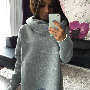 Womens Simple Style Solid Sweater