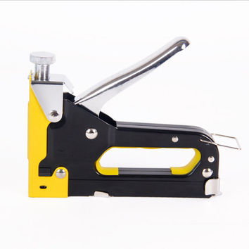 Staple Gun Triple Stapler Manual Air Nailer Portable Three Stainless Steel Nail Art Staples Office Supplies Student Desk Accessories
