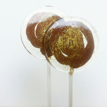 Nutella Lollipops-Filled with Authentic Chocolate Hazelnut Filling, Party Favors, Wedding, Favors-SIX LARGE LOLLIPOPS