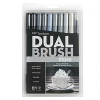 Dual Brush Pens Grayscale Palette