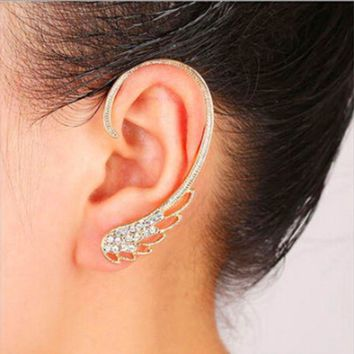 ONETOW Fashion personality punk style wings wings ear hanging, hot angel wing ear hanging