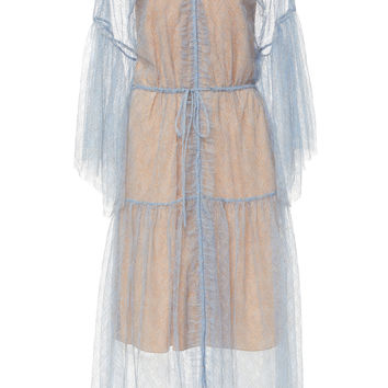 Sheer Overlay Midi Dress | Moda Operandi