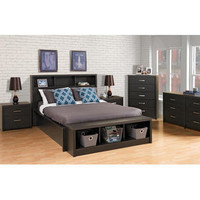Prepac District Headboard Bedroom Collection (4 Pieces) - Size: Double / Queen