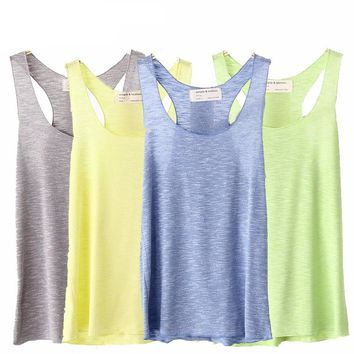Women Yoga Tank Tops Gym Sports Shirt Sleeveless