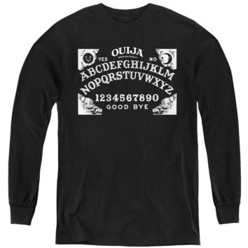 Ouija Kids Long Sleeve Shirt Board Black Tee