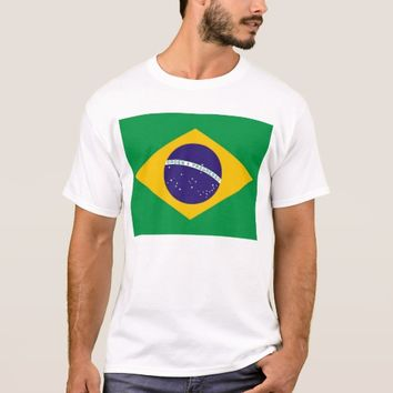 T Shirt with Flag of Brazil