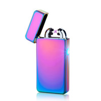 Rechargeable Flameless Electric Double Plasma Windproof Lighter
