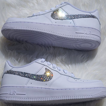 Air Force 1s Embellished with Swarovski Crystals