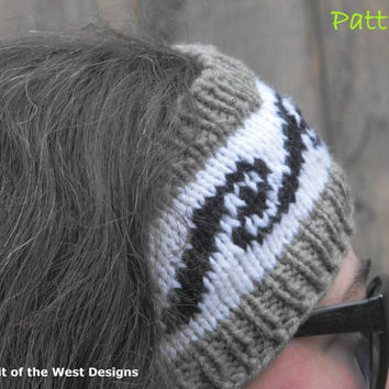 Nanuq Ear Warmer - Knitting Pattern, headband, headwrap, earwarmer, warmer, teen, adult, stranded, womans accessories, ear-muff, wrap turban