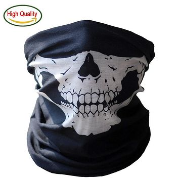 Skeleton Halloween Cosplay Bicycle Skull Mask Ghost Bandana Face Mask Scarf Warmer Motorcycle Hats