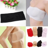 Breathable Mesh Short Strapless Bra Anti All-match Wrapped Chest Underwear Hot Sale