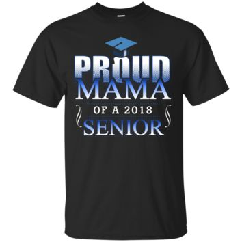 Proud Mama of a 2018 Senior_Class of 2018 T shirt for Women_Black