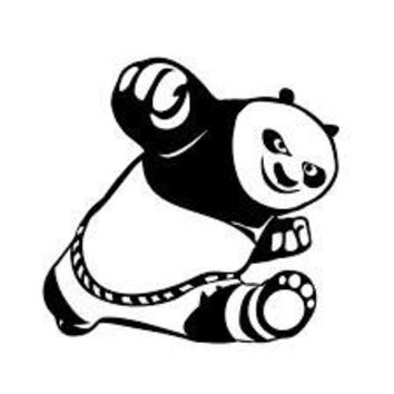 Kung Fu Panda Vinyl Car/Laptop/Window/Wall Decal