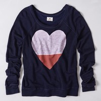 Colorblocked Heart Pullover