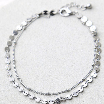 Escape to Sun Silver Anklet
