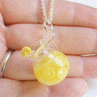Lemonade Miniature Pendant - Miniature Food Jewelry