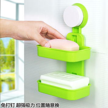 Creative Bathroom Box Washroom Big Size Double-layered Soap [4918265796]