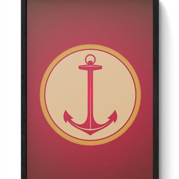 Marine Anchor Framed Poster