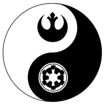 15cm*15cm Star Wars Light Dark Side Yin & Yang Bardian Motorcycle Car Sticker Vinyl Decals S6-3663
