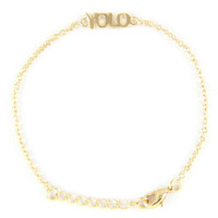 Yolo Chain Bracelet in Gold