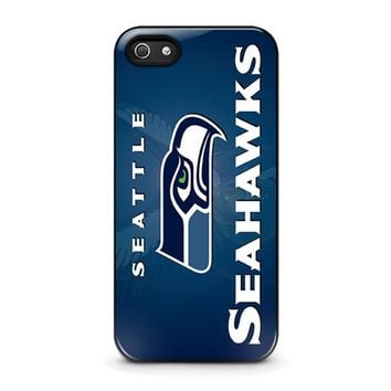 seattle seahawks iphone 5 5s se case cover  number 1