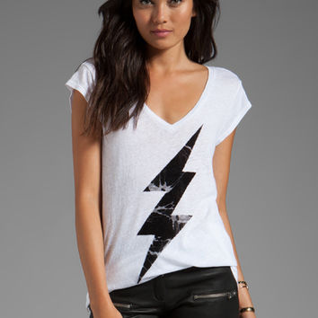 Junk Food Underground V-Neck Tunic in Electric White from REVOLVEclothing.com