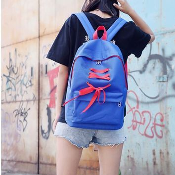Student Backpack Children 2018 new shoulder student backpack color bow double backpack college wind large capacity fashion travel backpack AT_49_3