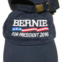 New Bernie Sanders 2016 Hat Cap DEMOCRATIC Presidential Nominee low profile 100 % cotton , adjustable