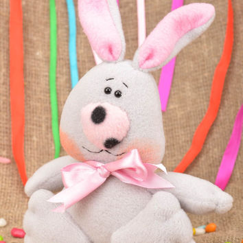 Stuffed toy bunny handmade soft toy for children nursery decor ideas baby gift