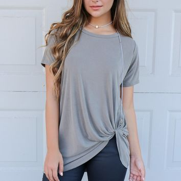 Seattle Dark Mocha Bottom Twisted Modal Top
