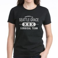 Property Seattle Grace Surgical Women's Dark T-Shi> Grey's Anatomy TV Store