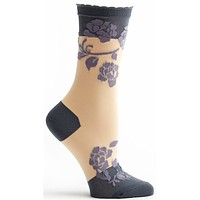 Sheer Rose Sock